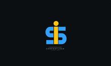 Letter Is Si Business Logo Design Alphabet Icon Vector Symbol