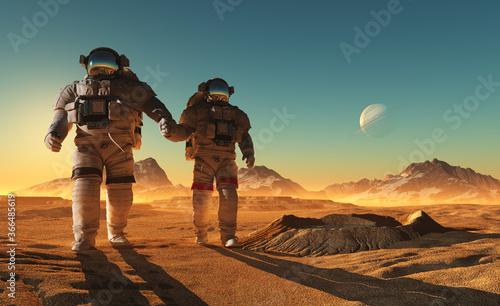 Obraz na płótnie Group of astronauts