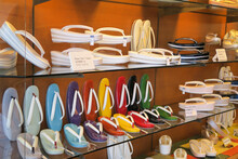 Shop Display With Colorful Get...