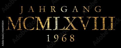 Papel de parede Jahrgang MCMLXVIII 1968 Römisch (Vintage Gold)