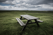 Picnic Table In Iceland