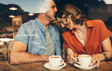 Couple In Love On A Coffee Date