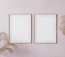 Two Wooden Vertical Frame Mock...