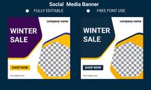 Modern Promotion Square Web Banner For Social Media Banner