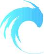 Audio Sound  logo . Music Equalizer Waves . Swirl Icon.