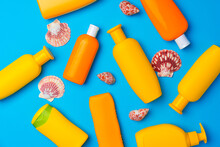 Sunscreen Cream Bottles With S...