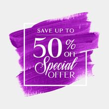 Sale Special Offer 50% Off Sig...