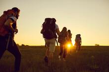 Hike. Hiking. Tourism.A Group ...