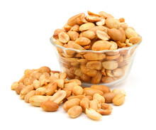 Processed Peanuts Isolated In ...