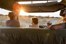 Family In Safari Vehicle, Kala...