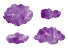 Dark Purple Watercolor Strokes...