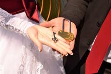 Decorative Key And Padlock On ...