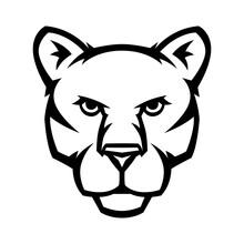 Mascot Stylized Cougar Head.