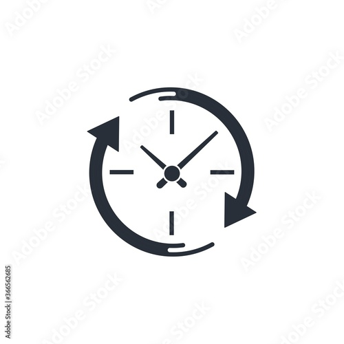 Expectation time. Vector icon isolated on white background. Wallpaper Mural