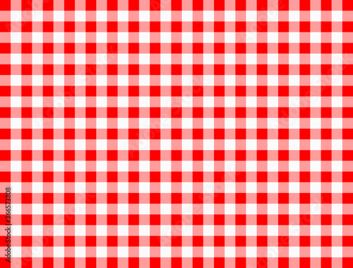 Background with checkered tablecloth Poster Mural XXL