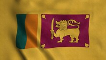 Sri Lanka Flag Waving In The W...