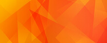 Abstract Orange Yellow Gradient Geometric Shape Background With Dynamic Triangle Modern Corporate Concept For Wide Banner