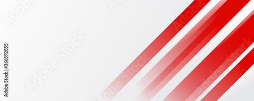 Fototapeta Minimalist modern abstract red and white grey tech geometric banner design obraz