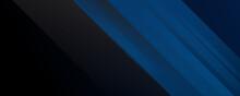 Modern Abstract Blue Black Ban...