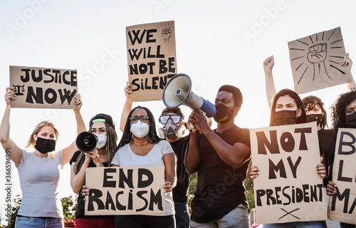 Fotografia, Obraz Activist movement protesting against racism and fighting for equality - Demonstr