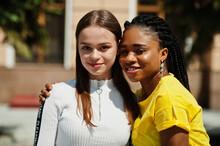 White Caucasian Girl And Black...