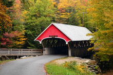 A Quaint Covered Bridge Is Fra...