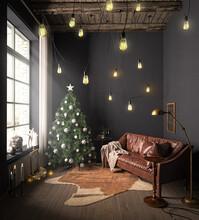 Weihnachtlich Geschmückter Raum