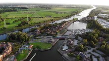 Aerial View Of Preston Docks S...
