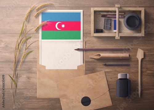 Azerbaijan invitation, celebration letter concept Fotobehang
