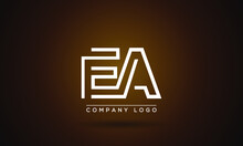 EA Or AE Logo Initial Letter Design Template Vector