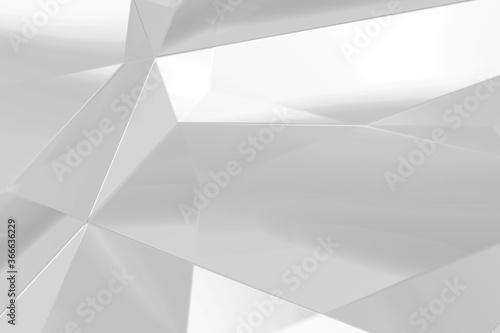 Abstract white and gray polygon triangle pattern background Canvas Print