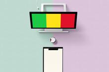 Mali National Flag On Computer...