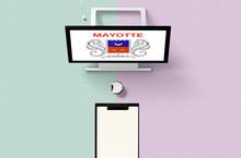 Mayotte National Flag On Compu...