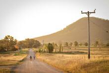 Children Riding Bikes On Remot...