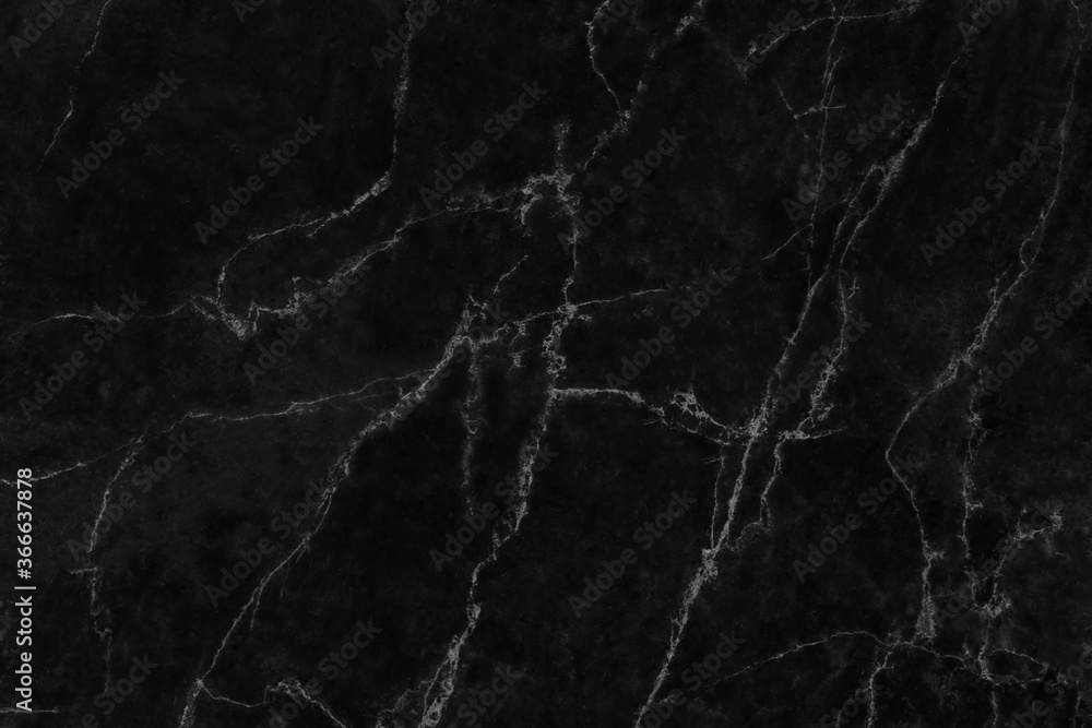 Fototapeta Black marble natural pattern for background, abstract natural marble black and white