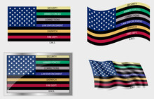 American Thin Line First Responder Flag