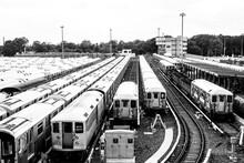 Mta 7 Train Resting In Train Yard