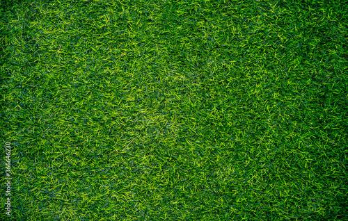 Closeup of artificial grass texture