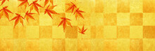 秋、モミジの背景