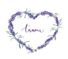 Floral Wreath - Heart Shape Wi...