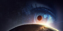 Human Eye And Space. Elements ...