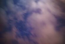 Cielo Nocturno Nubes Monte Ant...