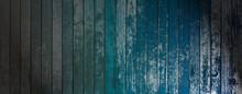 Blue Wood Grunge Background