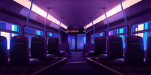 Empty Bus Or Train Interior Wi...