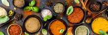 Set Of Spices And Herbs For Co...
