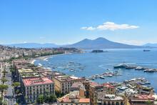 Mergellina, Vesuvius And The Coast Of Naples Seen From Above