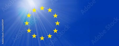 Obraz eu europa symbol flagge licht - fototapety do salonu
