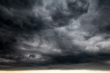 Sky Covered With Dark Storm Cl...