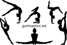 Vector Gymnastics Girl Sport B...