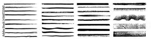 Set of artistic pen brushes Canvas Print